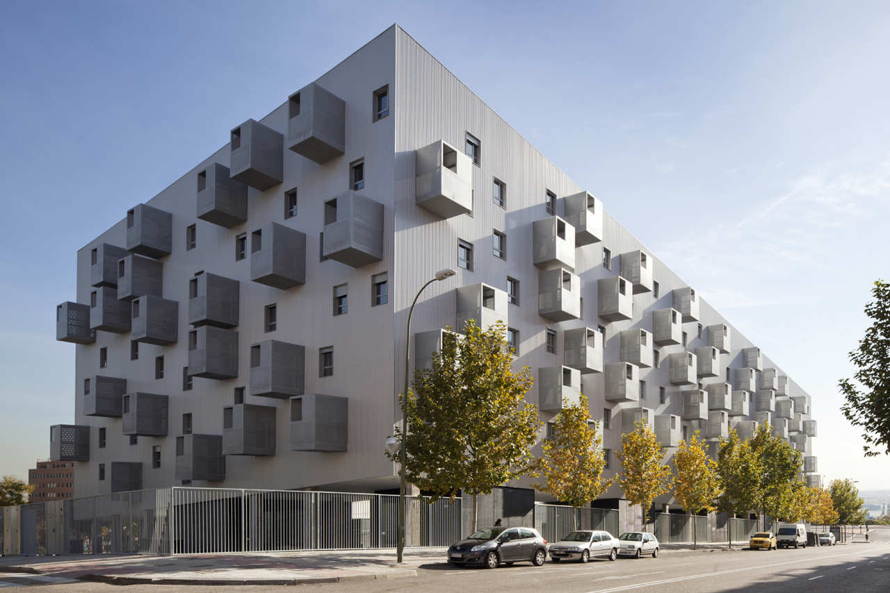 168 social housing in madrid by coco architecture - Arquitectos madrid ...