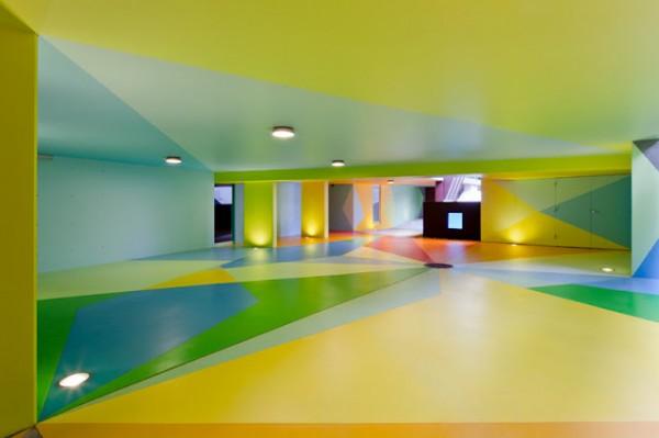 colourful underground parking by craig redman karl maier
