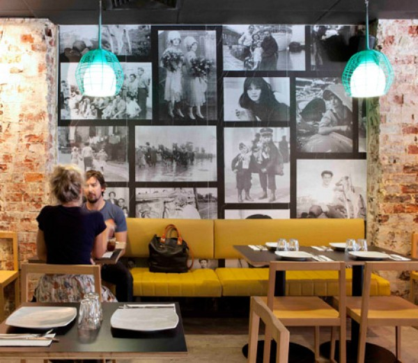 Pizzeria in perth inspired by 70 39 s style interior design for Interior design 70s style