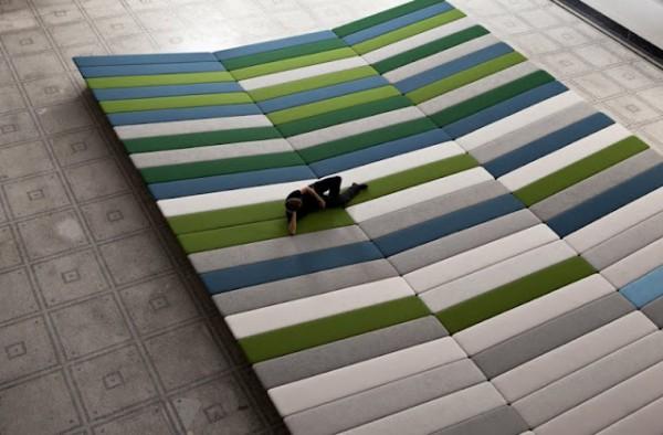 Textile field art installation project by ronan and erwan bouroullec dzine - Erwan ronan bouroullec ...