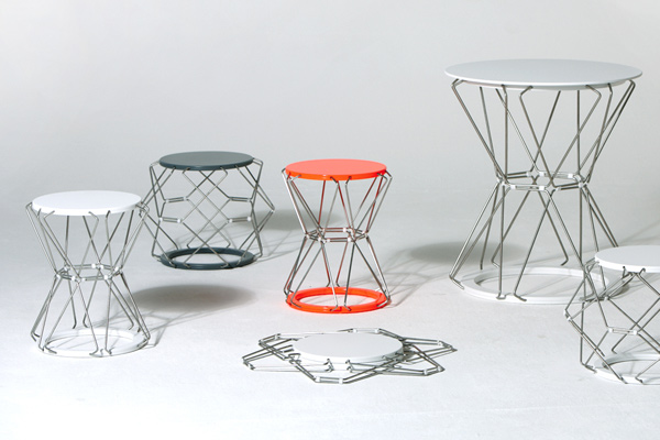 Collapsible Stool & Table Design by Anne Hoenisch - DZine Trip