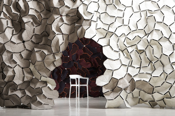 Clouds textile project by ronan and erwan bouroullec for kvadrat dzine tri - Erwan ronan bouroullec ...