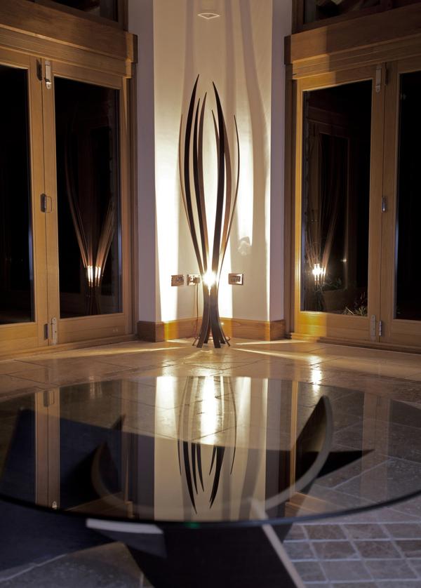 wooden floor lamp by alex macmaster dzine trip