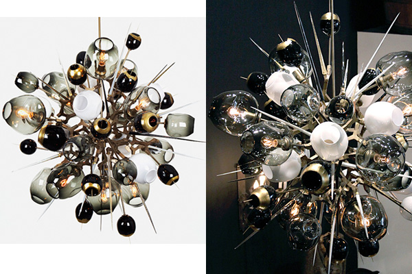 Cute Hand blown glass lighting design Boom Boom Burst by Lindesey Adelman us Studio