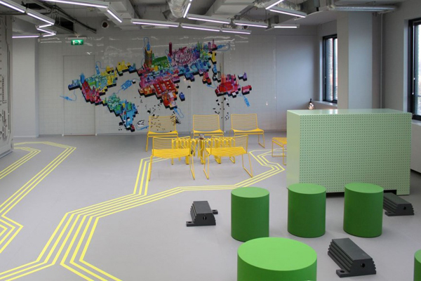 Innovative office interiors created by blowing up ict for Innovative office design