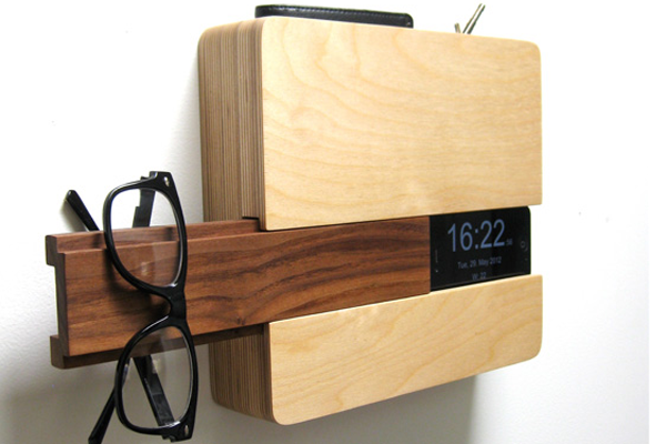 wooden space organizer the butler by designer curtis micklish