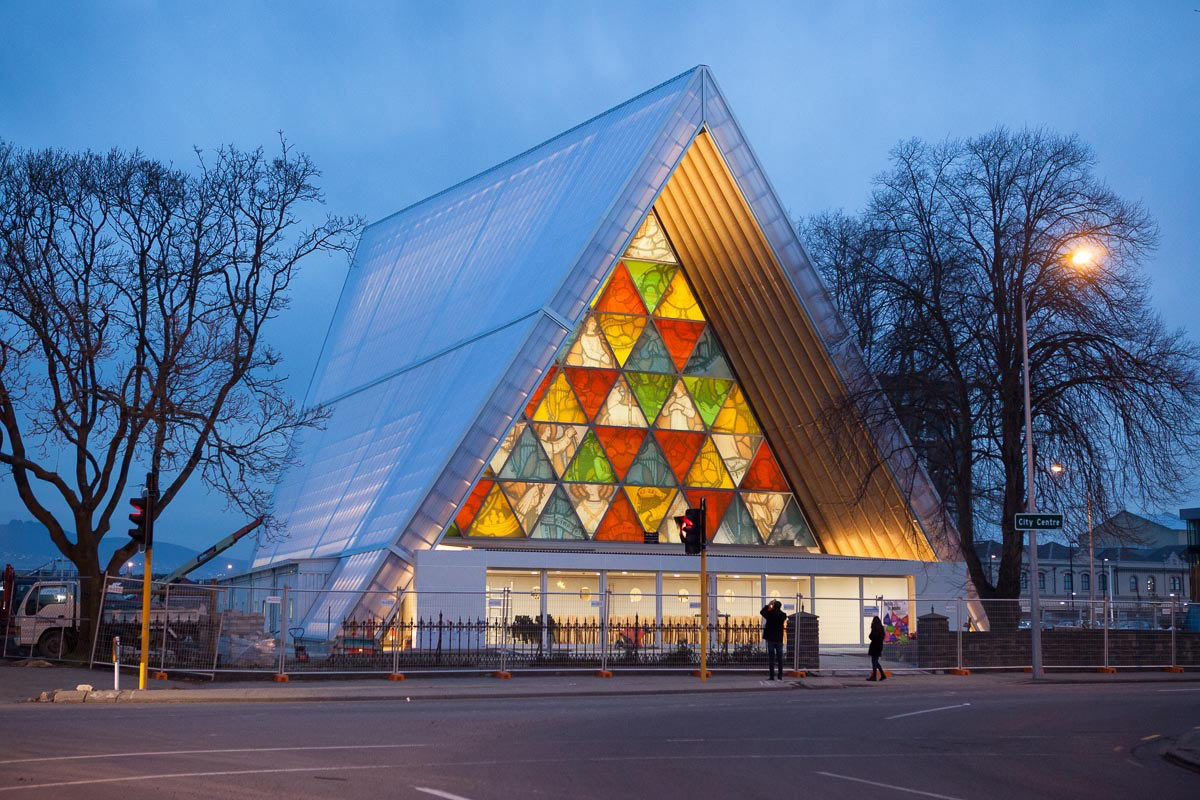 Cardboard Cathedral by Japanese architect Shigeru Ban - 02