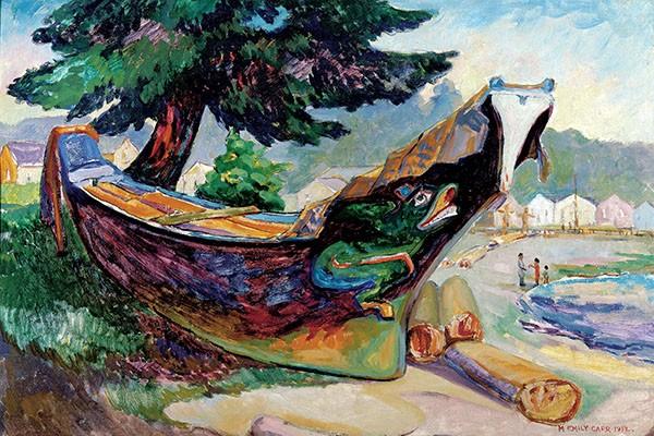 Indian War Canoe (Alert Bay)-emily-carr