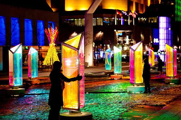 Interactive Public Art Illuminates Winter In Montreal