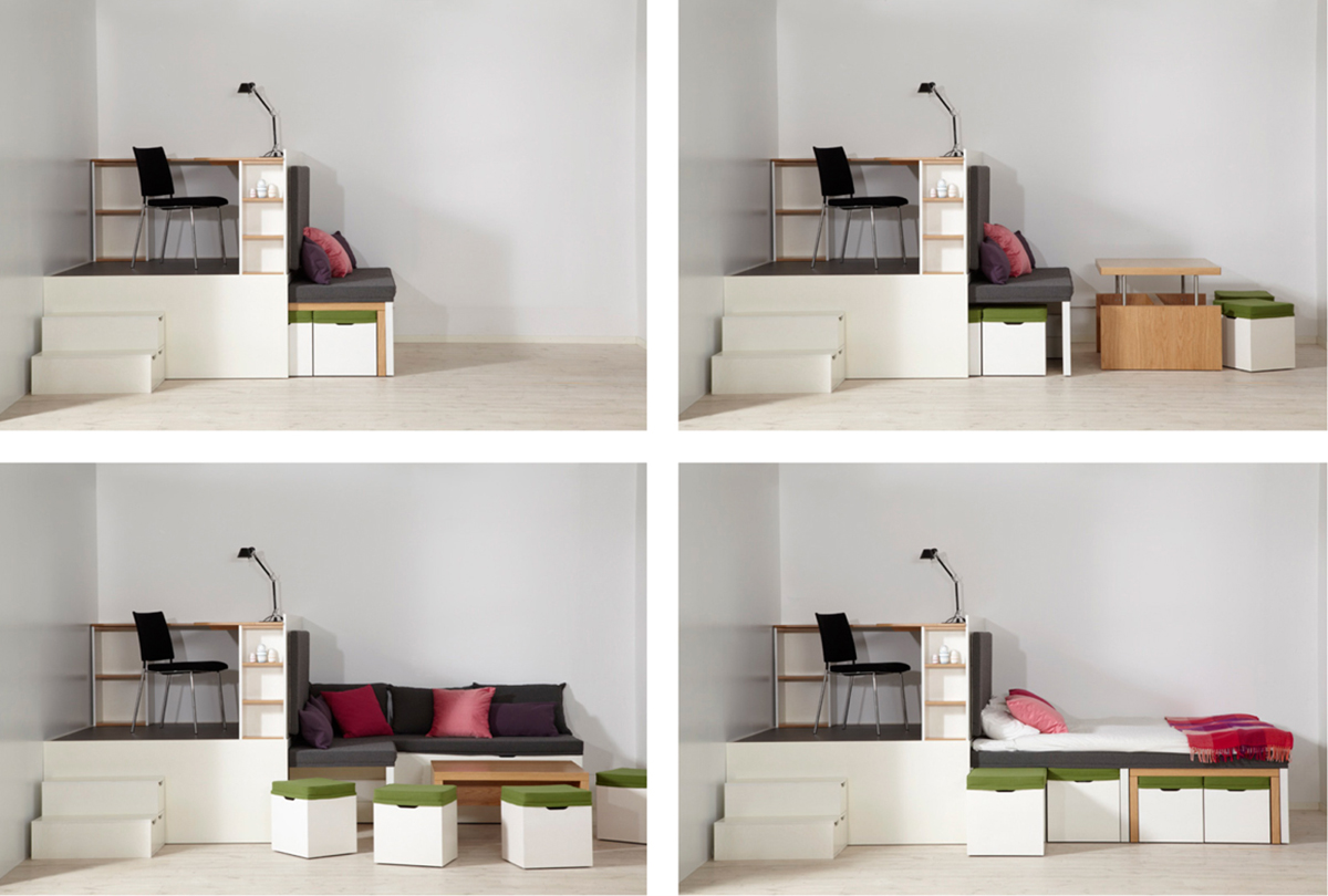 Big Ideas For Small Bedrooms Part - 26: Matroshka Furniture Creates Big Ideas For Small Spaces