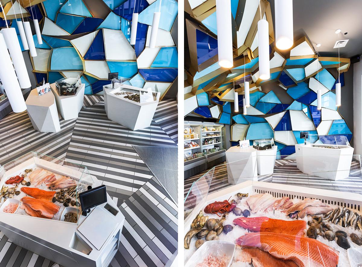 Quebec designer reinvents a walk on the bottom of the sea for Franks fish market