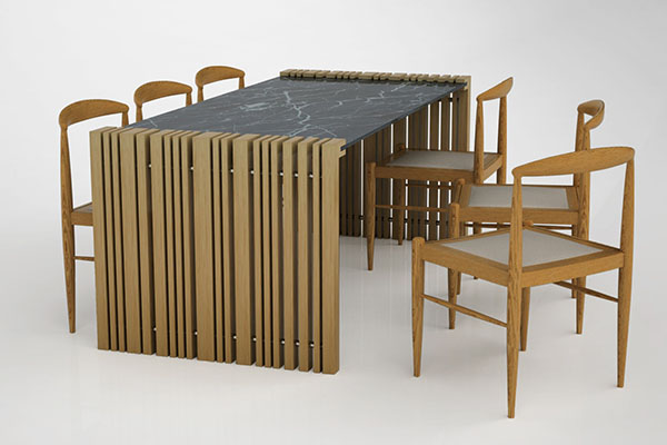 Modular Dining Table By Neptun Ozis