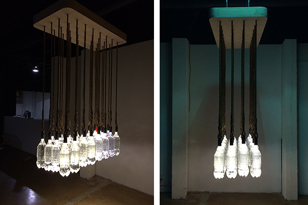 Solar Powered Bottle Cap Lighting Installation By Basic Design