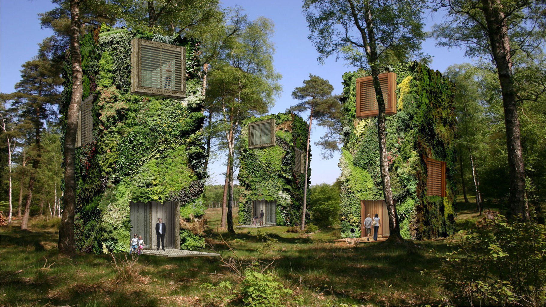 architecture answers to the human need to become one with nature