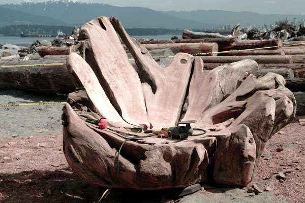 Brazilian Artist Hugo Franca Turns Logs Into Furniture At The Vancouver  Biennale